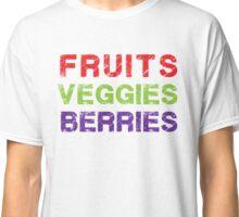 Fruits Veggies Berries - Healthy Food T Shirt Classic T-Shirt