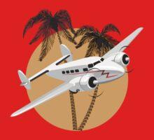 Cartoon retro airplane One Piece - Short Sleeve