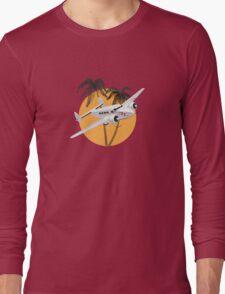 Cartoon retro airplane Long Sleeve T-Shirt