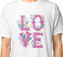 Floral Cute Love T Shirt Classic T-Shirt