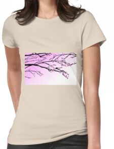 Cherry Blossom Womens Fitted T-Shirt