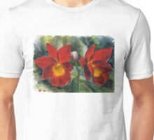 Cattleya Orchid watercolor pencils ACEO Unisex T-Shirt
