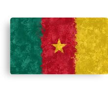 Cameroon Flag Grunge Canvas Print