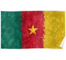 Cameroon Flag Grunge Poster