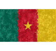 Cameroon Flag Grunge Photographic Print