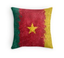 Cameroon Flag Grunge Throw Pillow