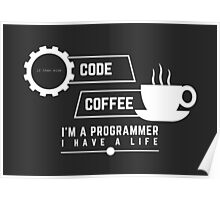 programmer : coffee and code Poster
