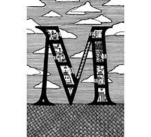 Letter M Architecture Section Alphabet Photographic Print