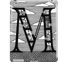 Letter M Architecture Section Alphabet iPad Case/Skin