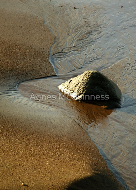 Rock and sand by Agnes McGuinness