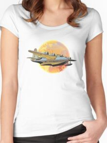 Retro seaplane Women's Fitted Scoop T-Shirt