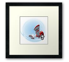 Cartoon Biplane Framed Print