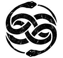 NeverEnding Story Snake Symbol Vintage Photographic Print