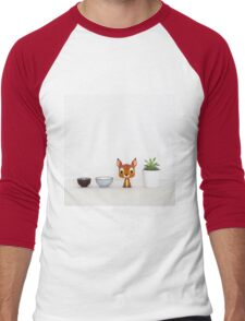 Deer and Succulent Men's Baseball ¾ T-Shirt