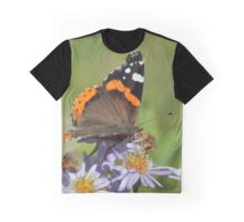 Red Admiral Butterfly Graphic T-Shirt