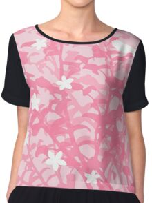 Floral Pink Style Chiffon Top