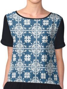 Abstract Pattern Style Chiffon Top