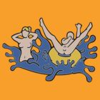 Skinny Dipping Couple by Nude-is-Life