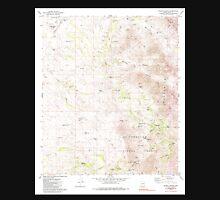 USGS TOPO Map Arizona AZ Wilbur Canyon 314101 1980 24000 Unisex T-Shirt
