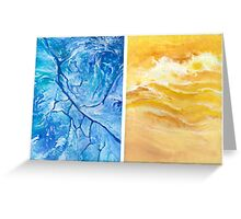Cold breeze Greeting Card
