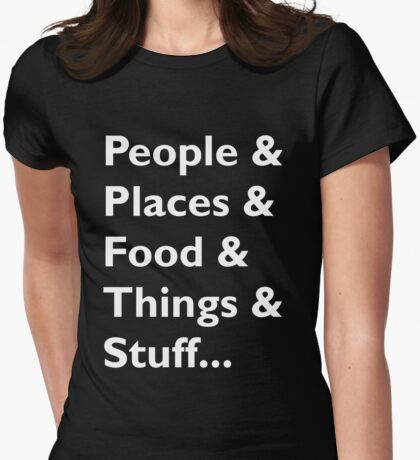 Everything Helvetica Hipster Womens Fitted T-Shirt