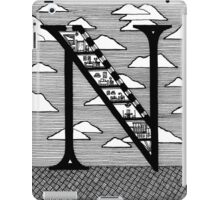 Letter N Architecture Section Alphabet iPad Case/Skin