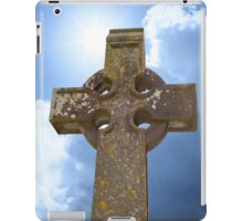 sunshine over celtic cross at ancient graveyard iPad Case/Skin