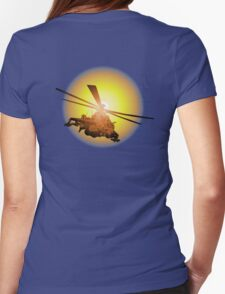 Cartoon strike helicopter Womens Fitted T-Shirt