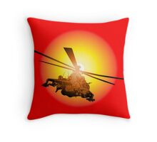Cartoon strike helicopter Throw Pillow