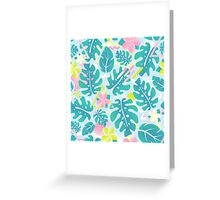 Tropical summer pattern Greeting Card