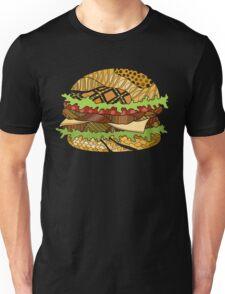 Colorful hamburger illustration Unisex T-Shirt