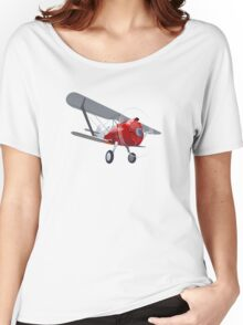 Retro biplane Women's Relaxed Fit T-Shirt