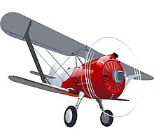 Retro biplane Photographic Print