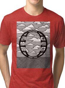 Letter O Architecture Section Alphabet Tri-blend T-Shirt