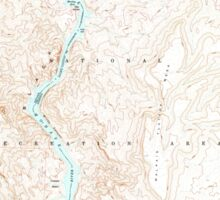 USGS TOPO Map Arizona AZ Willow Beach 314128 1959 24000 Sticker