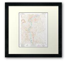 USGS TOPO Map Arizona AZ Willow Beach 314128 1959 24000 Framed Print