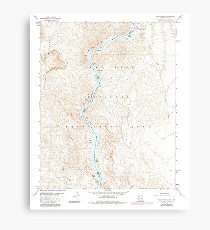 USGS TOPO Map Arizona AZ Willow Beach 314128 1959 24000 Canvas Print