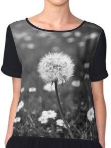 Monochrome Dandelion Chiffon Top