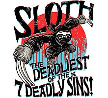 Sloth The Deadliest of the Seven Deadly Sins Photographic Print