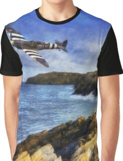 Spitfires On The Coast Graphic T-Shirt