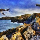Spitfires On The Coast by Ian Mitchell