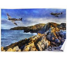 Spitfires On The Coast Poster
