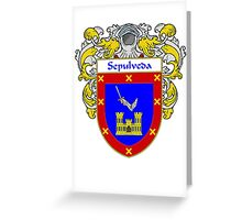 Sepulveda Coat of Arms/Family Crest Greeting Card