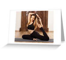 Woman yoga trainer in asana Greeting Card