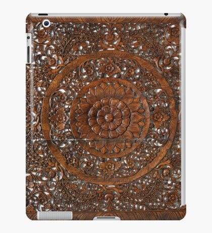 Hindu sculpture on wood, decorative iPad Case/Skin