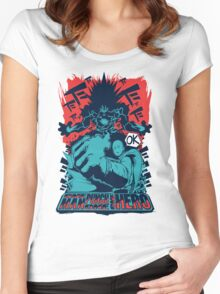 One man, one punch, one HERO. Women's Fitted Scoop T-Shirt