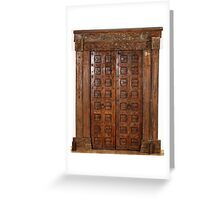 Old door from a hindu temple Greeting Card