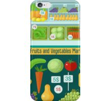 Fruits and Vegetables Market. Healthy Eating Concept iPhone Case/Skin