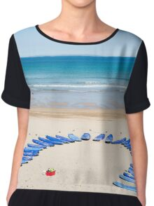 surf boards at surf school Chiffon Top