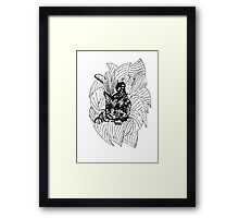Cat in Foliage Framed Print